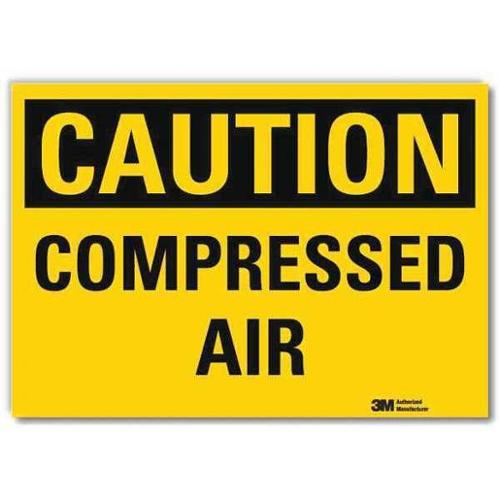 LYLE U4-1137-RD_7X5 Safety Sign,Compressed Air,5in.H x 7in.W G2279055