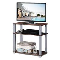 Gymax 3-Tier TV Media Stand Component Console Multipurpose Shelf Display Rack Walnut