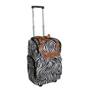 ecWorld Enterprises, Inc. Runway Lady's Lightweight Zebra Carry-on Rolling Luggage Bag