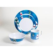 Galleyware 1007-L 16 Decorated Melamine Non-skid 16 Piece Dinnerware Gift Set