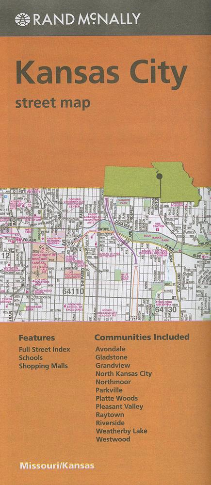 Folded map kansas city streets mo paperback for Walmart pharmacy garden city ks