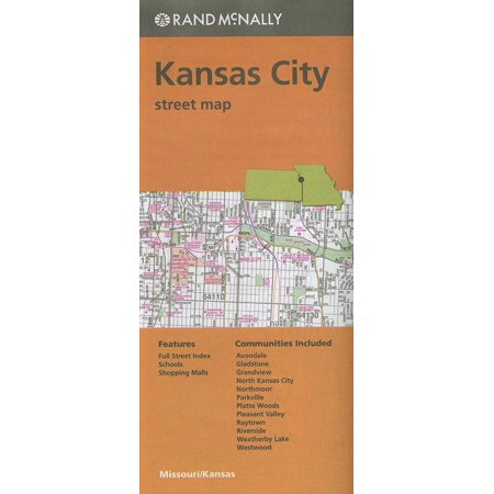 Folded Map Kansas City Streets Mo - Party City In Columbia Mo