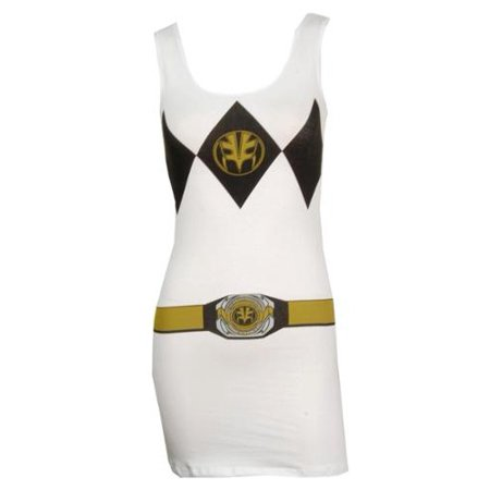 Power Rangers White Ranger Women's Costume Tank Top Dress