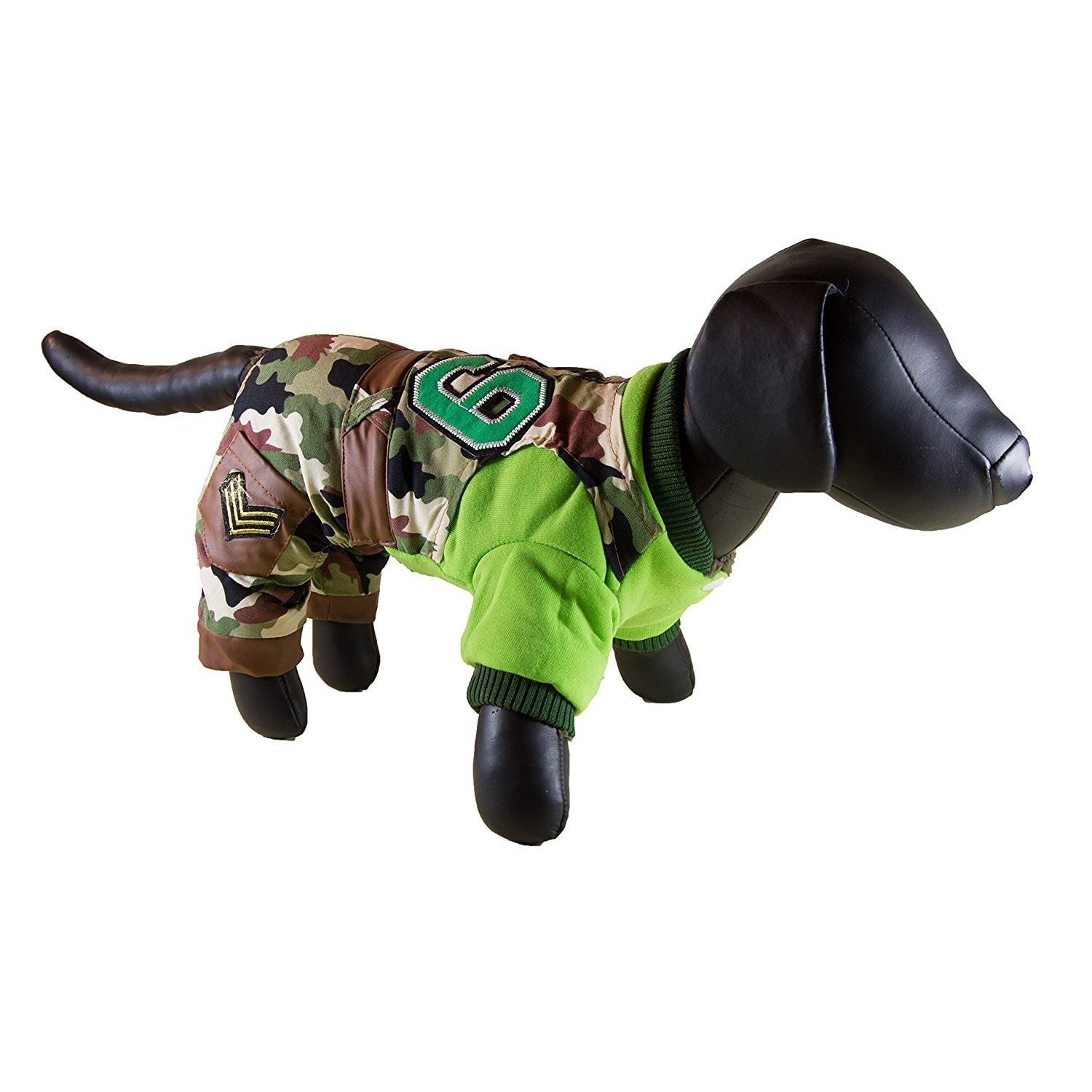 Petcessory  Green Camouflage Cotton 4-leg Dog Parka