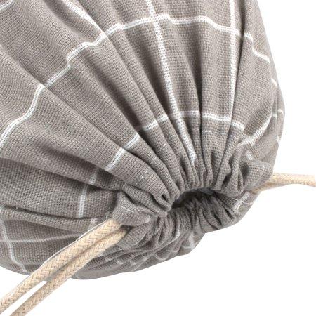 De Plein air Voyage Pochette résistante à la poussière avec Cordon de Serrage en Lin et Coton Gris - image 1 de 5