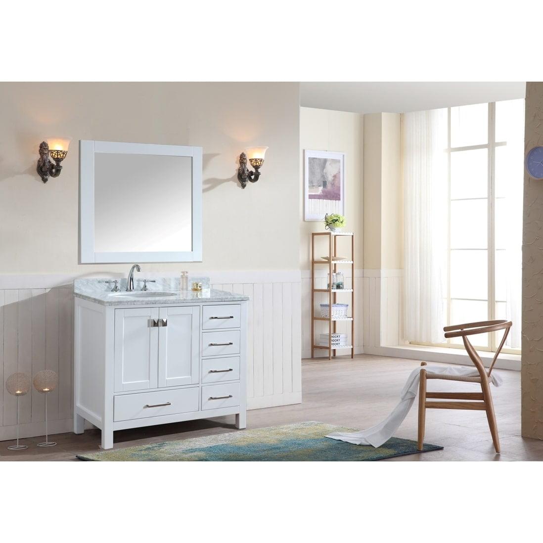Ari Kitchen & Bath Bella 36 Inch White Single Bathroom Va...