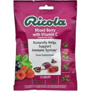 Ricola Supplement Drops with Vitamin C, Mixed Berry 19 ea (Pack of 6)