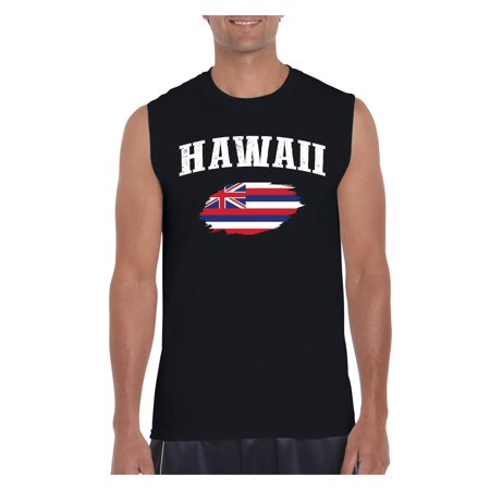 Hawaii State Flag Men Ultra Cotton Sleeveless T-Shirt ()