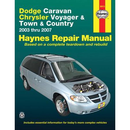 Dodge Caravan Chrysler Voyager & Town & Country : 2003 Thru