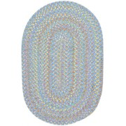 Rhody Rug PT08R024X036 2 x 3 in. Playtime Pink & Multicolor Oval Rug