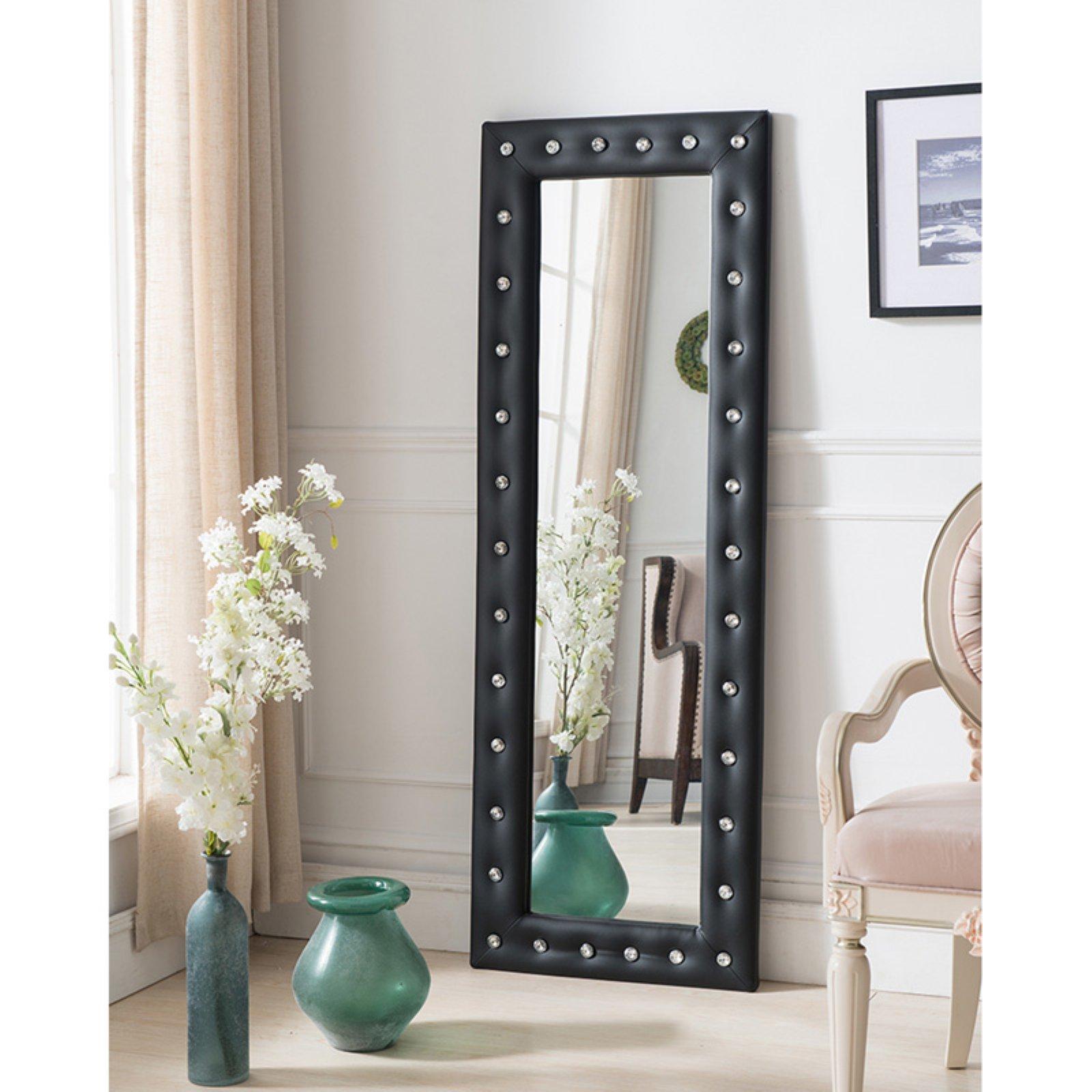 K&B Furniture Tufted Floor Mirror