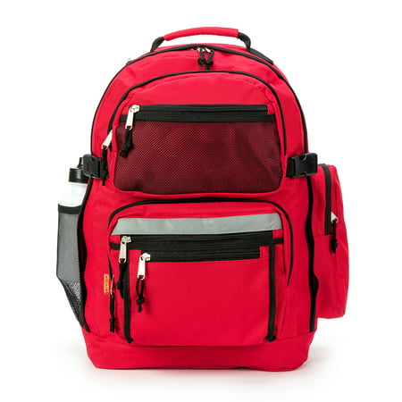 K-Cliffs Large Backpack School Bag Book Bag with Free water bottle 19 Inches Red 19 x 13 x