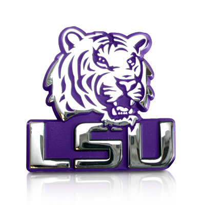 NCAA - LSU Tigers Ultra Premium Metal Car Emblem
