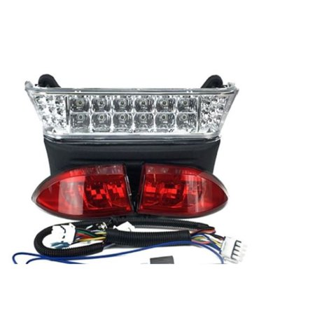 Deluxe LED Light Kit for Club Car Precedent Electric Golf Carts 2004-2008