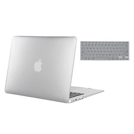 Dark Silver Air - Mosiso MacBook Air 13 Inch 2 in 1 Soft-Touch Plastic Hard Case and Keyboard Cover for MacBook Air 13.3
