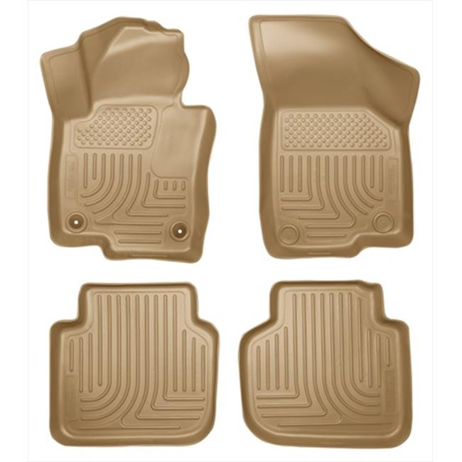 Weatherbeater Series Thermoplastic Olefin Tan Front & 2Nd Seat Floor Liners