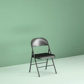 Astonishing Plastic Development Group Vinyl Padded Folding Chair Black Ncnpc Chair Design For Home Ncnpcorg