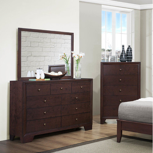 Woodhaven Hill Kari 9 Drawer Dresser with Mirror
