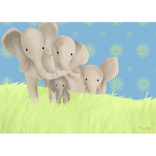 Oopsy Daisy's Elephant Parade Canvas Wall Art, Size 14x10