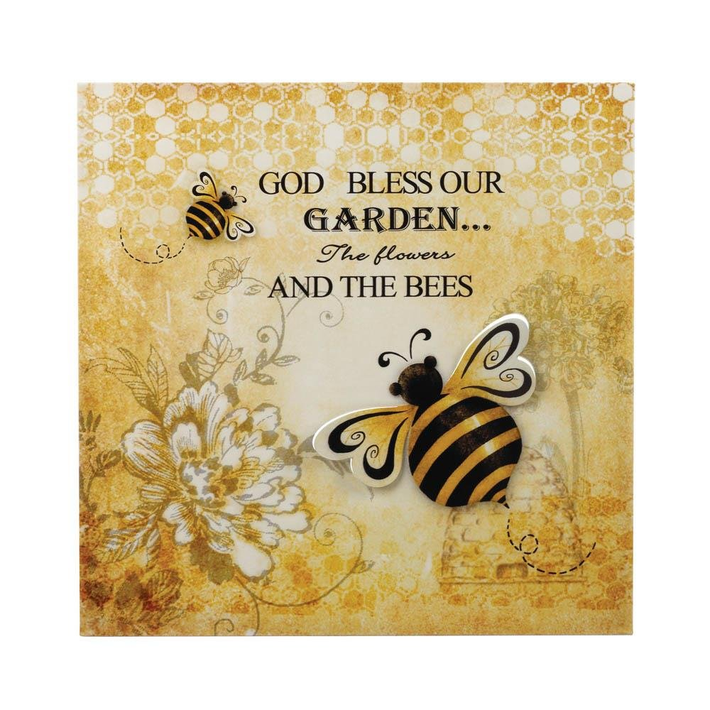 Wall Art Wall Decor, Bumble Bee 3-d Garden Living Room Metal Wall ...