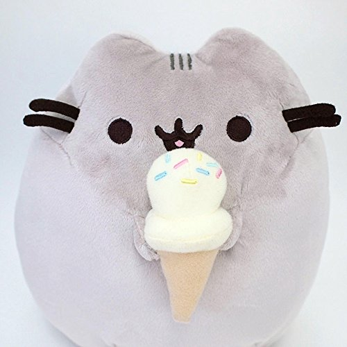 "Pusheen 9.5"" w/ Ice Cream Cone Plush by Gund - 4048872"
