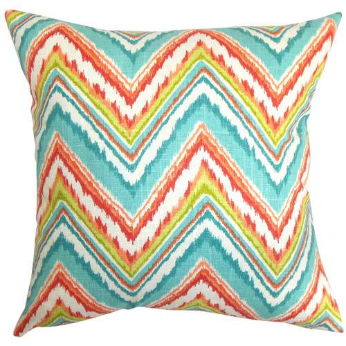 The Pillow Collection Dayana Zigzag Cotton Throw Pillow