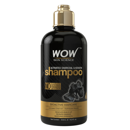 WOW Activated Charcoal & Keratin Shampoo - 500mL - Healthy Scalp