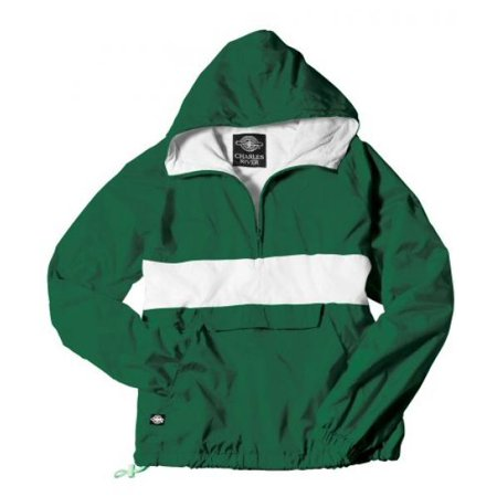 The  Classic Collection  Classic Crs Striped Nylon Pullover Jacket From Charles River Apparel