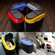 Car Bin Double-opening Trash Can Car Trash Storage Box Can Be Attached to Paste Convenient Garbage Can Automobile Dustbin Car Accessories