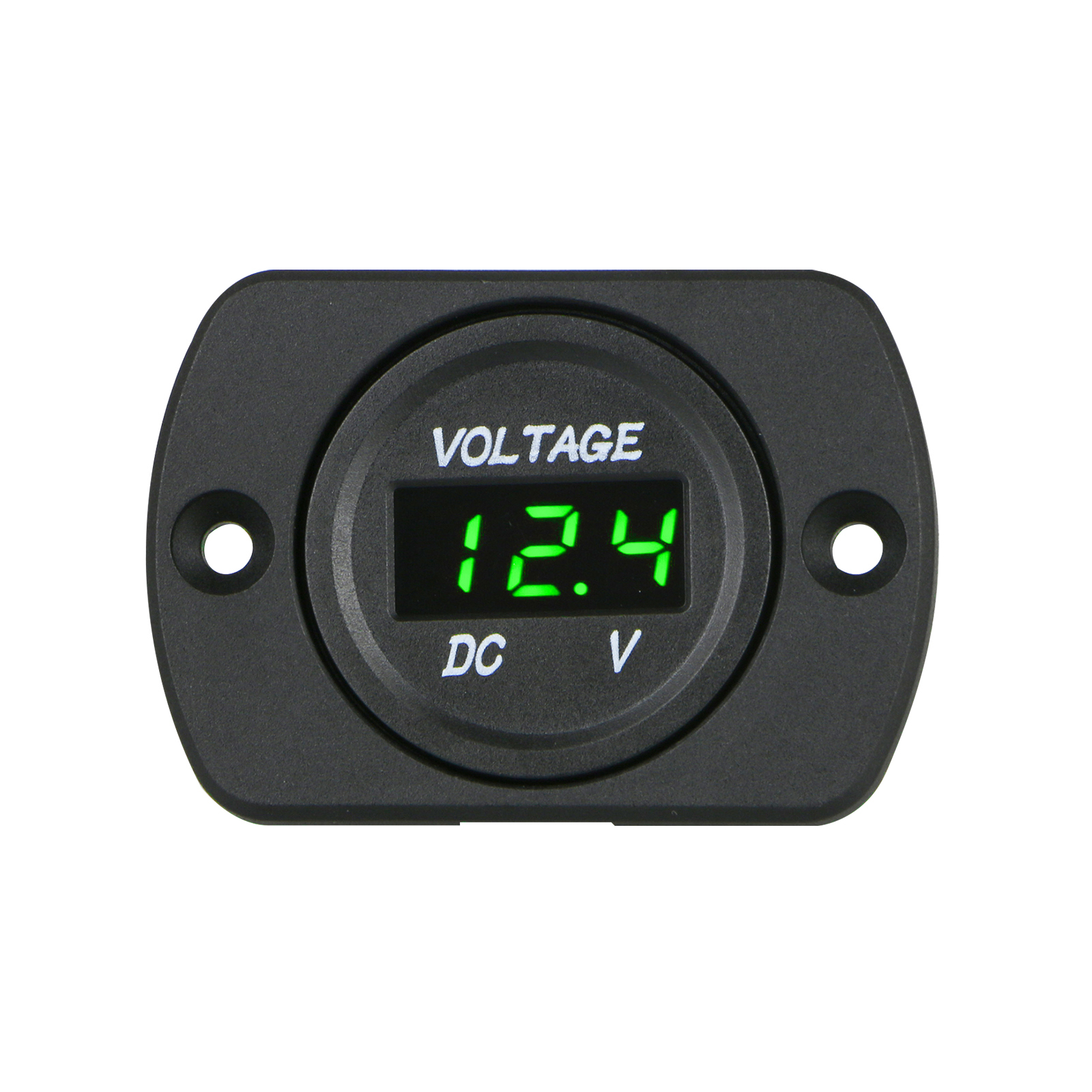 12V-24V LED Digital Voltmeter Car Marine Motorcycle Voltage Meter Battery Gauge