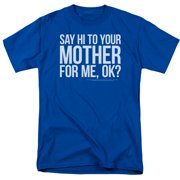 Saturday Night Live SNL Hi Mother Mens Short Sleeve Shirt