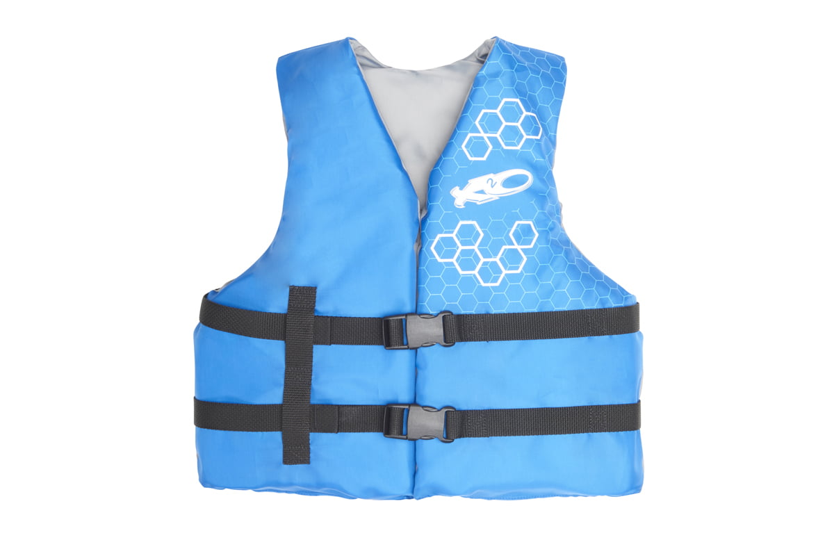 Click here to buy X2O Youth Universal Open-Sided Life Vest (50-90 lbs) by Exxel Outdoors.