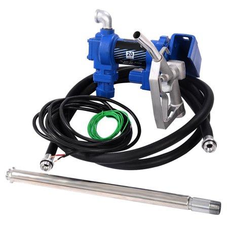 Gymax Gasoline Fuel Transfer Pump 12 Volt DC 20GPM Gas Diesel Kerosene Nozzle