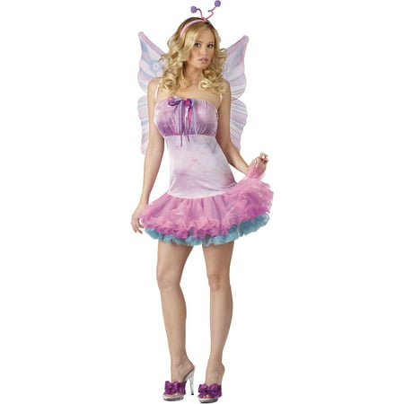 Fluttery Butterfly Adult Halloween Costume - Mm Costumes