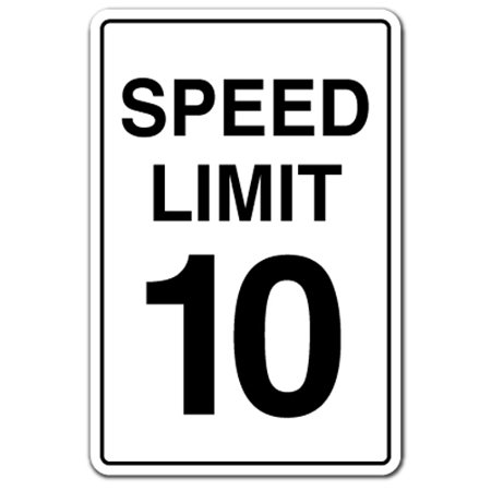 SPEED LIMIT 10 Decal driving car racing slow driver race | Indoor/Outdoor | 7
