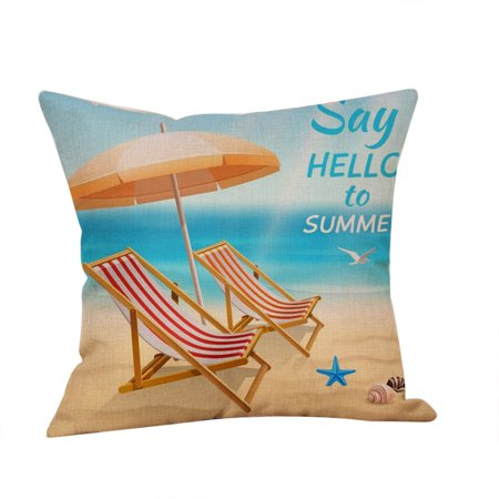 Summer Beach Style Pillow Case Sofa Bed Home Car Decoration Cushion Cover