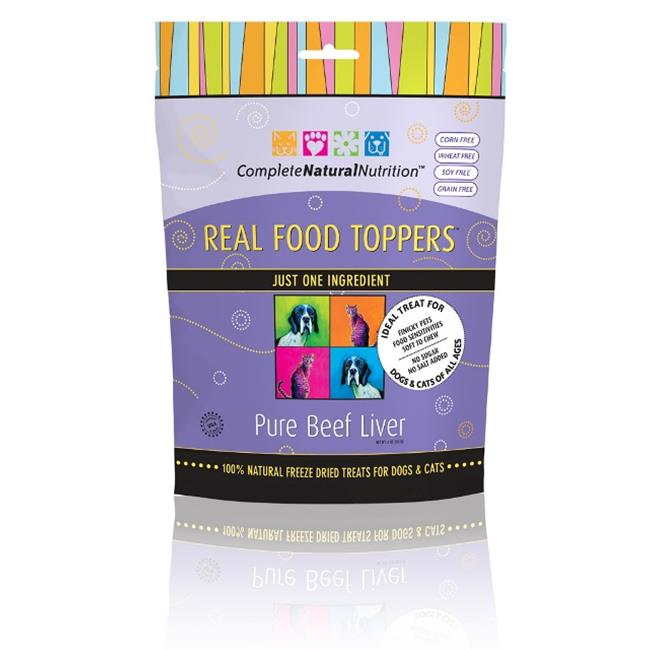 Complete Natural Nutrition CNNRFTBL Real Food Toppers Beef Liver - Pack of 20