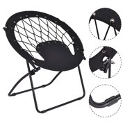 Costway Folding Round Bungee Chair Steel Frame Outdoor