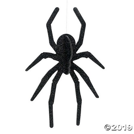 HALLOWEEN HANGING SPIDER CEILING DROP DECORATION FOR HAUNTED HOUSES (Dropping Spider)