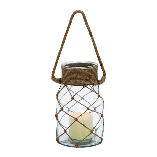 Woodland Imports Smart Opaque Glass Lantern