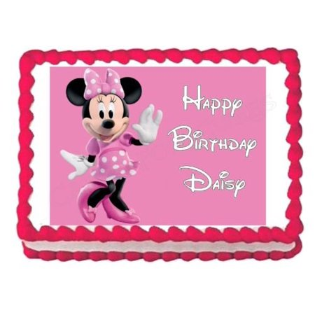 MINNIE MOUSE Party Decoration Edible Cake Image Topper