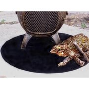 Fire Resistant Chiminea Outdoor Fireplace Pad - Round