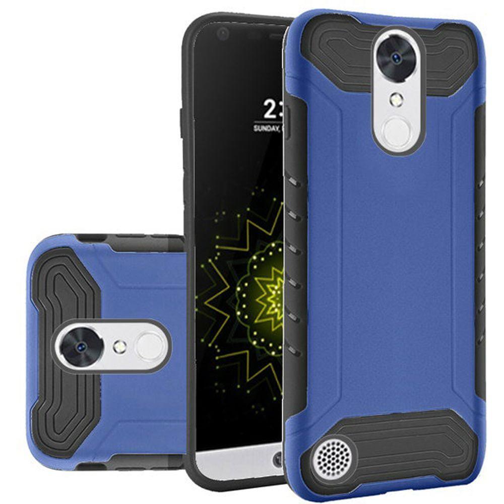 lg k20 plus case, lg k20 v case, lg harmony case, tjs dual layer scratch resistant shock absorbing quantum hybrid premium rubberized brushed cover ...