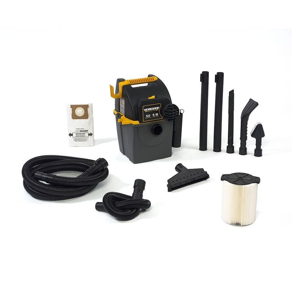 WORKSHOP  WS0501WM 5.0 Peak HP, 5 gal. Garage Wall Mounted Wet/Dry Vac - Black