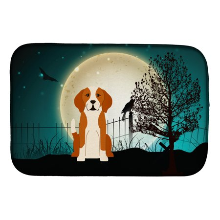 Halloween Scary English Foxhound Dish Drying Mat