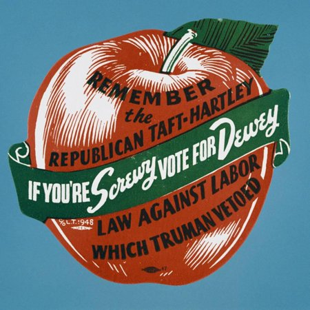If You're Screwy Vote for Dewey Postcard Print Wall Art By David J. Frent](Antique Halloween Postcards For Sale)