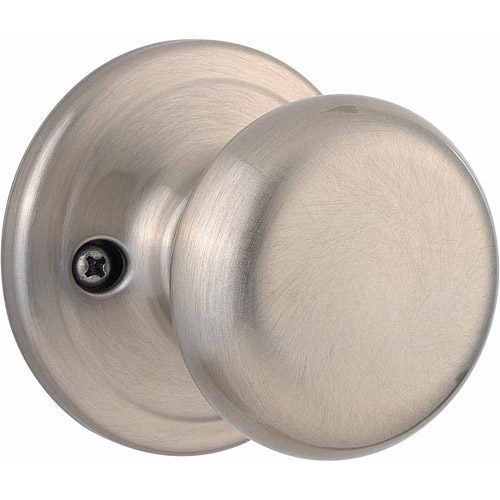 Kwikset Satin Nickel Surface Mounted Juno Half-Dummy Trim Knob