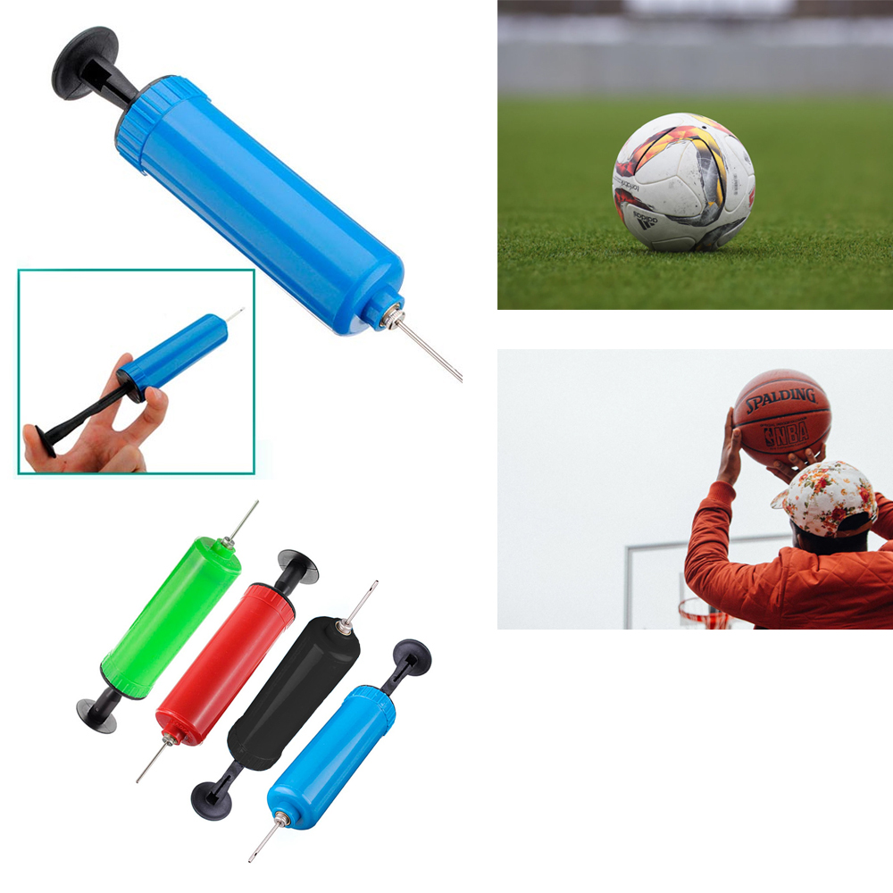 "6/"" Handheld Air Pump Hand Inflator w// Screw In Needle Football Basketball Soccer"
