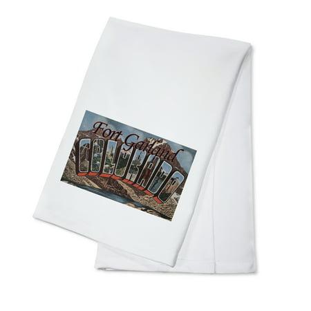 Fort Garland, Colorado - Large Letter Scenes (100% Cotton Kitchen Towel)