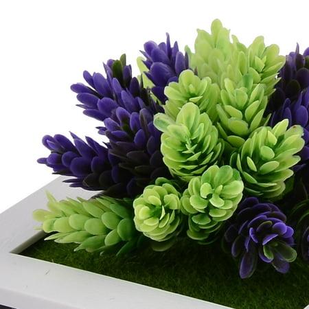Home Party Plastic Flower Shaped Artificial Plant Decoration Frame 15cm x 15cm - image 3 of 4